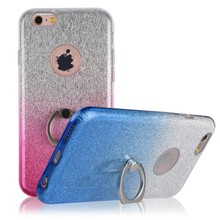 C&T Ring Grip / Holder / Stand Shiny Bling Glitter Soft TPU Back Case Cover for Apple iPhone 6 Plus / 6s Plus 5.5''