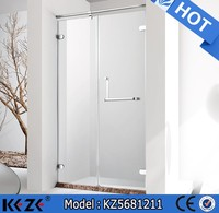 Rectangle shape 2 person shower cubicle frameless 8 mm american style shower
