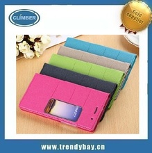 high quality flip view case for huawei ascend p7