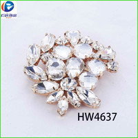 HW4637 renqing shoe collection diamante gold tail hardwares for shoes