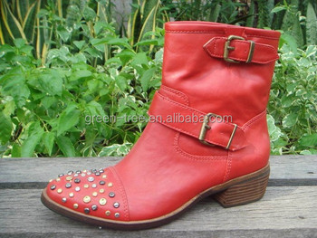 2015 newest women's winter boots red upper flat