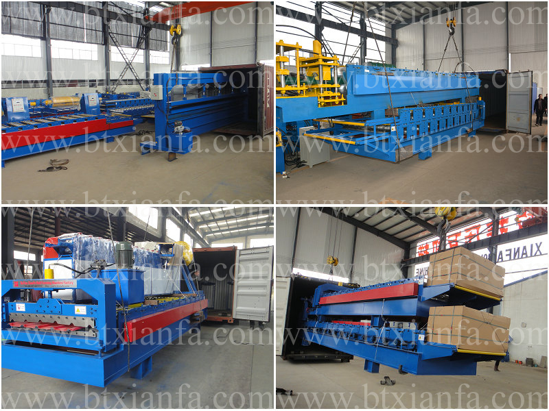 CE ISO Standard Double Layer Roofing Roll Forming Machine