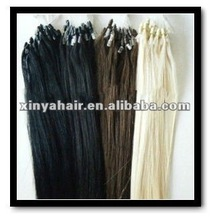 Human Hair Extension Silk Straight Micro-ring hair extension