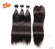 Ali Queen Hair Products 7A Grade virgin brazilian straight hair Cheap Human Hair