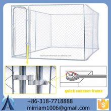 2015 new fashionable high quality unique iron fence cheap welded/ chain link dog kennel