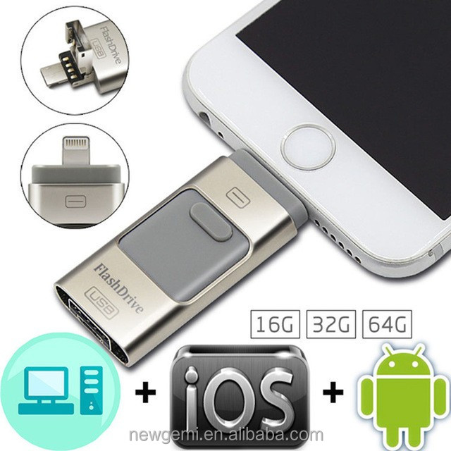 Promotional usb flash drive for iphone 7 high quality 128GB 1TB OTG usb flash sticks