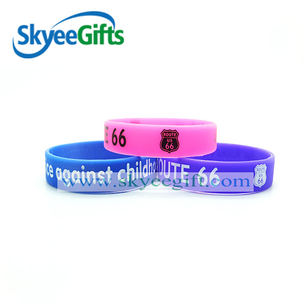 2016 Factory directly single / pure / solid color printed silicone bracelet/wristband