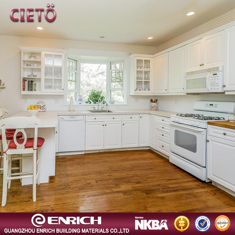 Good workmanship white kitchen cabinet with drawer