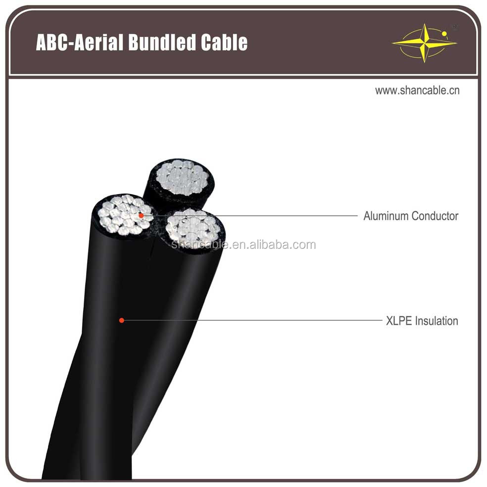 Aerial Bundled Cable Overhead cable with Aluminum conductor