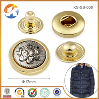 Double Colors Custom Push Metal Snap Button For Jackets