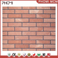 Anti-Slip Modified Clay Red Brick Wall Cladding