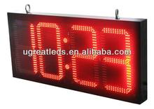 10inch Outdoor waterproof IP65 high quality IR programmable red color led time zone clock