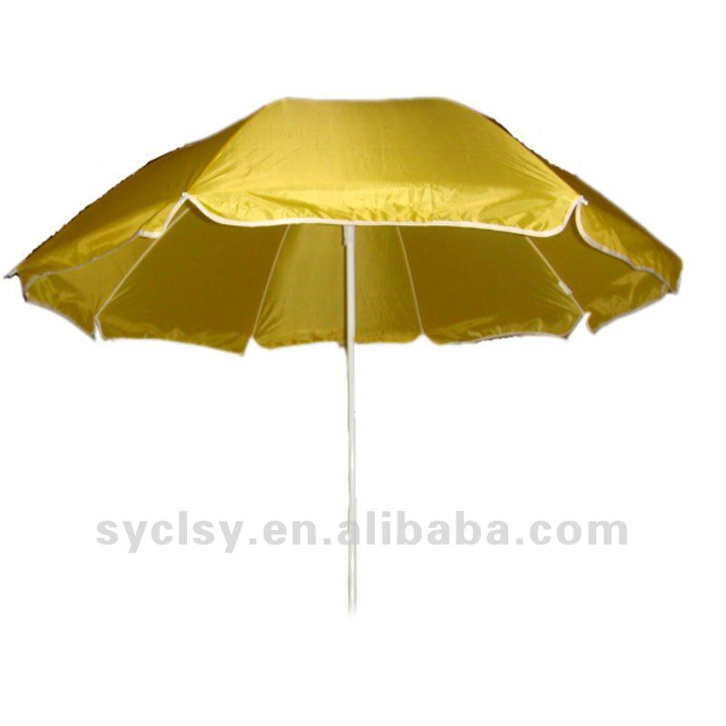 manual open dia 2M steel frame beach umbrella with logo printing