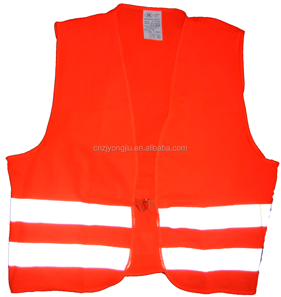 work wear standardized knitted fabric safety vest with reflective tape and EN 20471 certificate