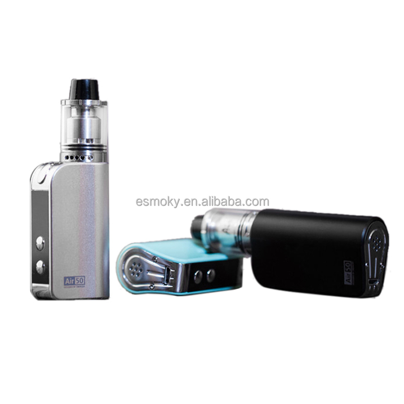New Arrival!!! Fashionable Design 50watt TC Vape Kit With RTA Tank Original Smokjoy Air 50 Kit VS Rofvape A Box Mini 50w Kit