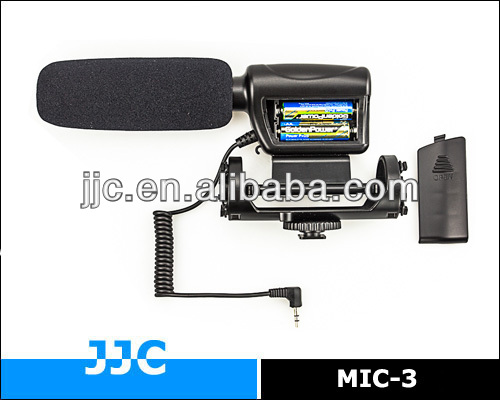 JJC MIC-3 Camera Mounted Shotgun Microphone for DSLR or DV