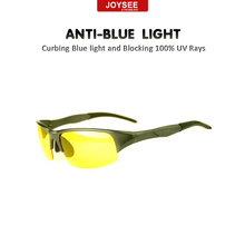 Anti Blue Ray Bike Night Driving Gamer Eye Glasses Eyewear With Yellow Lenses