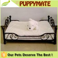 luxury metal pet dog beds, wrought iron canopy pet bed, dog beds large