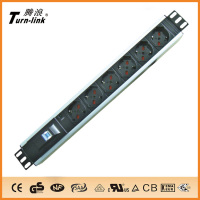 1.5 U 6 ways PDU socket high quality hot sell 10 way power socket