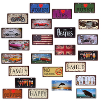 Hotsale License Plate embossed metal sign Tag hanging bar wall decoration