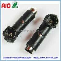 Standard Antenna Car Radio Adapter Plug Connector ISO 90 degree right angle to Socket DIN