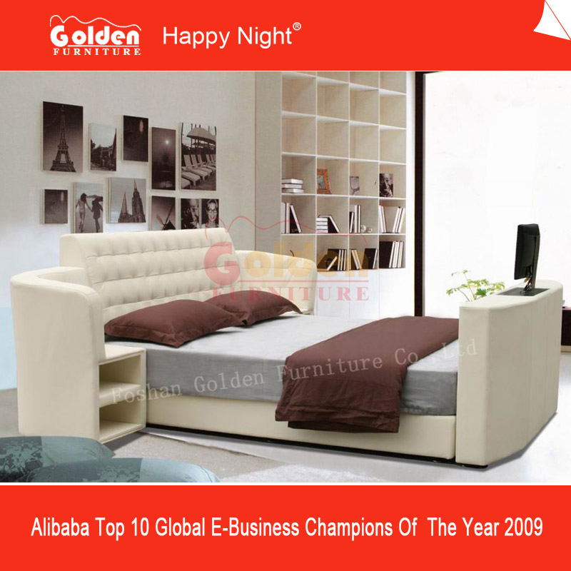 2832# alibba latest design king size automatic lift tv bed