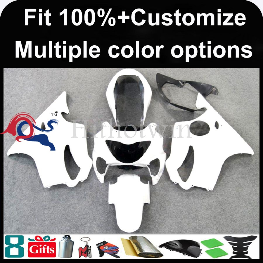 INJECTION MOLDING panels 1999 2000 CBR600 F4 ABS Plastic Bodywork Set For HONDA CBR600-F4 white Fairing Gloss Fit CBR600F4 1999