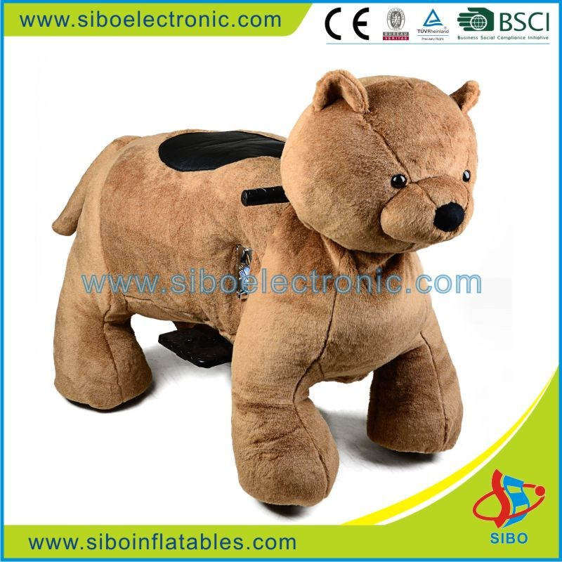 GM59 Hottest plush ride on horse toys,riding motorized animals for children game