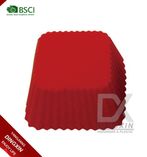 Red color square shape silicone muffin cake cups