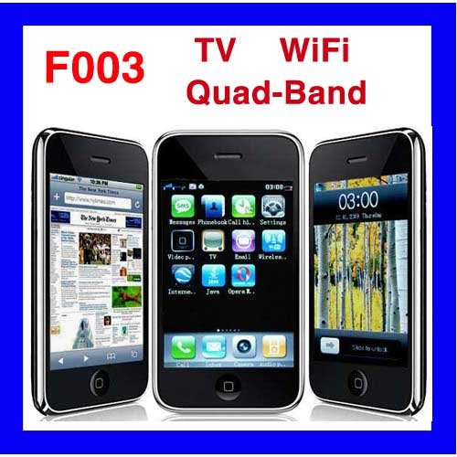 Fly-Ying F003 Quad-Band Analog TV WIFI JAVA cell phone With Free 2GB