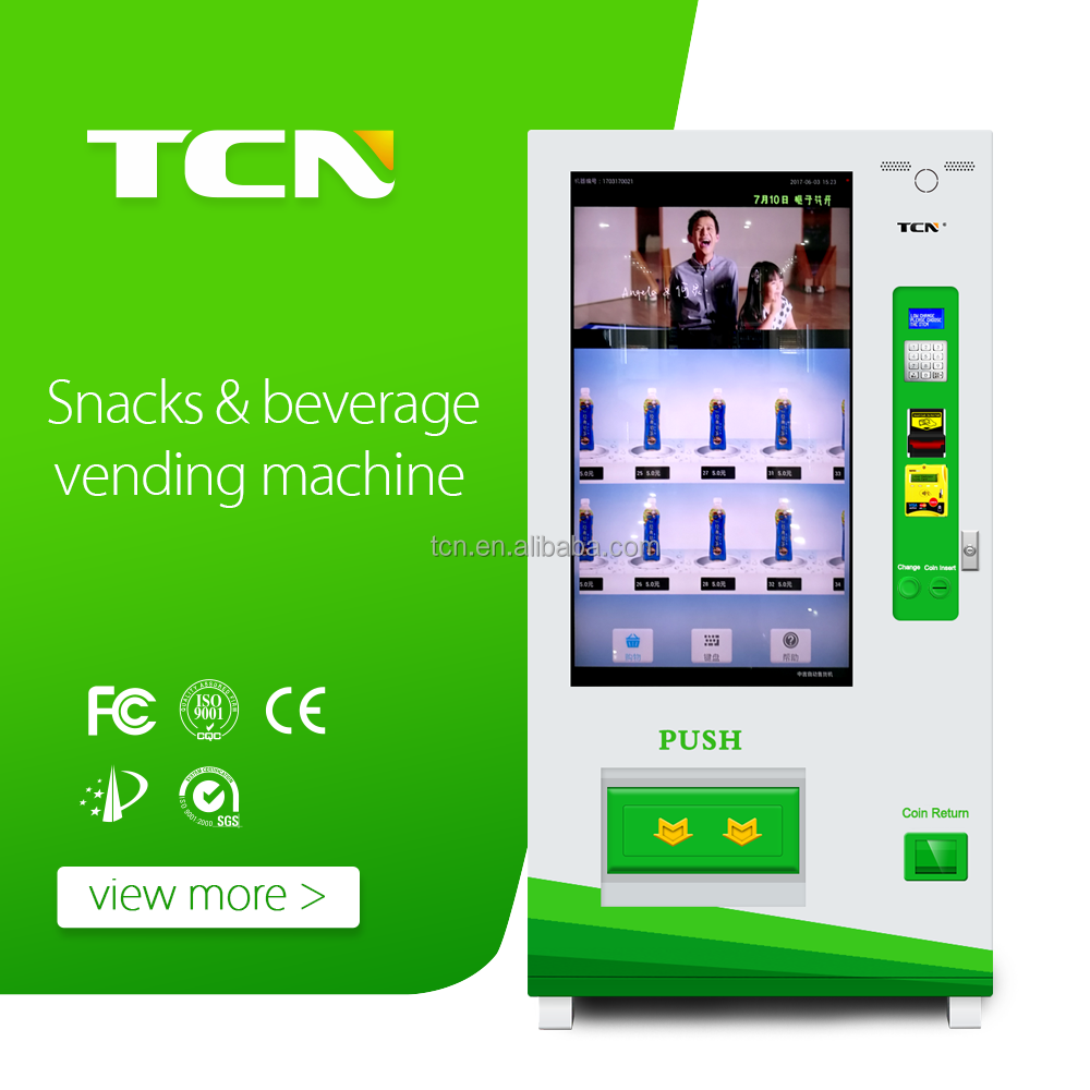 automatic white black touch screen vending machine