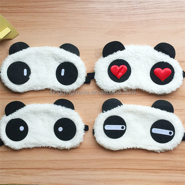 Cute Panda Sleeping Face Eye Mask Blindfold Eyeshade Traveling Sleep Eye Aid