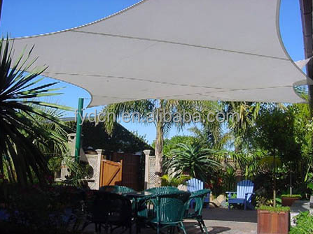 16ft X 16ft Rectangle Desert Sand Sun Sail Shade Durable Woven Outdoor Patio Fabric w/Up To 85% UV Protection