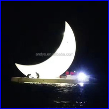 Infatable moon rise at sea new invention for display