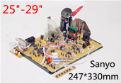 14-21 inch 247*198mm Universal Toshib a Color TV Mainboard