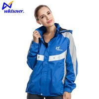 Fluorescent winter waterproof polyester woman sport jackets for cycling