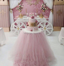 Newest Tulle Steps in Table Skirting Tutu Table Skirt