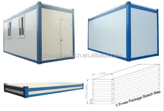Foldable and collapsible container house