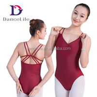 A2048 Burgundy Adult Dance Leotard Wholesale