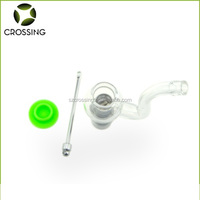 Wholesale smoking e cigarette wax dry herb dab globe glass vaporizer pipe with replacment coil