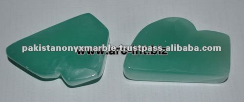 Natural green chrysoprase pendants