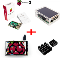 2017 Raspberry Pi 3 Starter Learning Kit with Raspberry Pi 3 Model B + 3.5 Inch Raspberry LCD TFT + Acrylic Case + Heat sinks