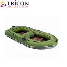 China Shanghai PVC fabric fishing inflatable boats with oars and pump