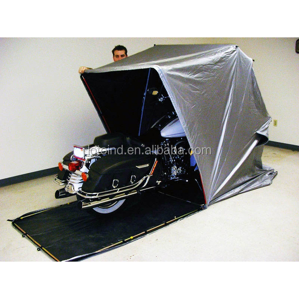outdoor motorcycle shelter, foldable motorcycle home, motorcycle tent cover