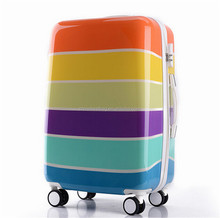 Newest Colorful Wholesale ABS PC travel luggage bags for women