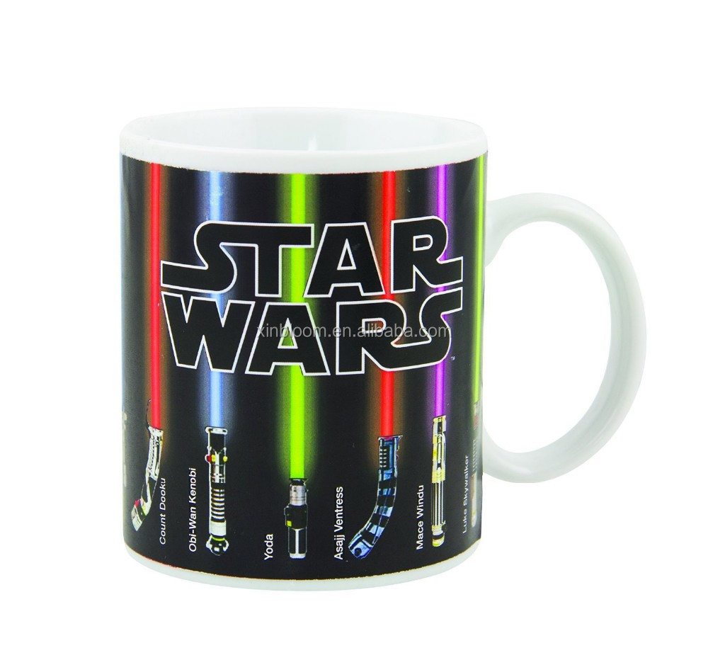 creative hot-selling promotional wars heat sensitive color changing magic gift ceramic mug