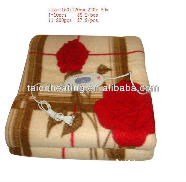 warm comfortable colorful electric blanket