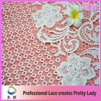 White Flower Design Heavy Embroidery Colored Lace Curtains Wholesale Price