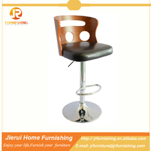 JR antique appearance style wooden bar stool /bar chair with back JR-1107