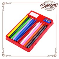Plastic Crayon Sticks Block 12 Colors